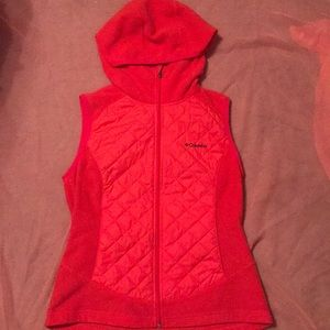 Columbia Pink Women's Thermal Coil Hooded Vest